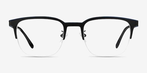 Fathom Blue Black Metal Eyeglass Frames