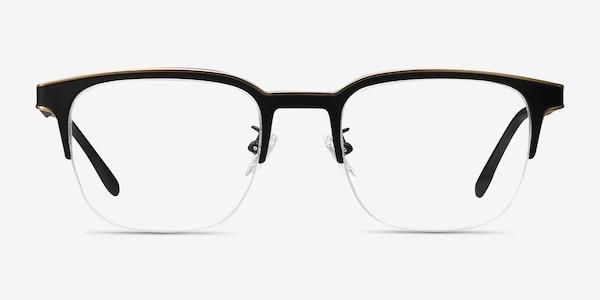 Fathom Bronze Black Metal Eyeglass Frames