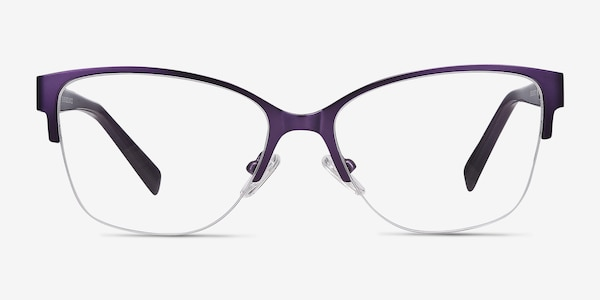 Feline Purple Acetate-metal Eyeglass Frames
