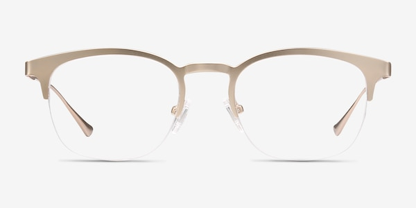 Hemisphere Rose Gold Metal Eyeglass Frames