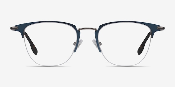 Wings Blue Metal Eyeglass Frames