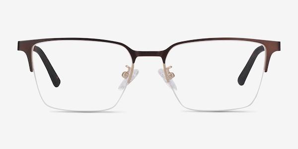 Brink Brown Metal Eyeglass Frames