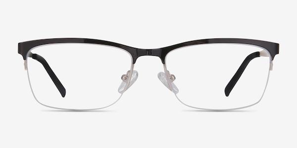 Rally Black Metal Eyeglass Frames