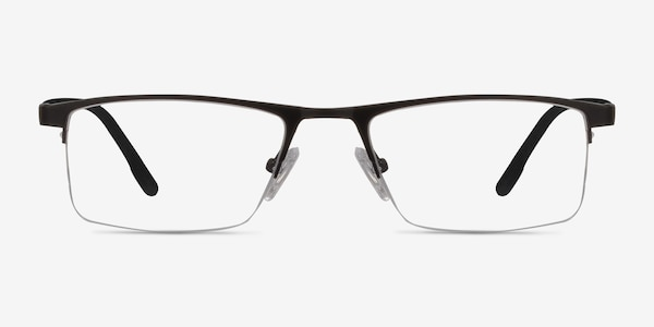 Singapore Matte Black Metal Eyeglass Frames