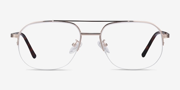 Carlson Gold Acetate-metal Eyeglass Frames
