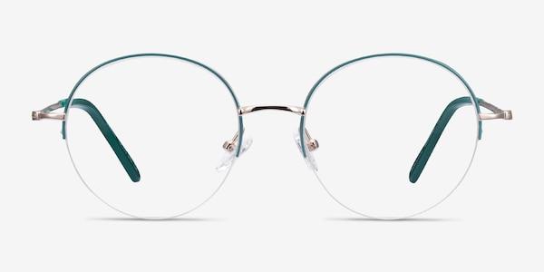 Takashi Green & Gold Metal Eyeglass Frames