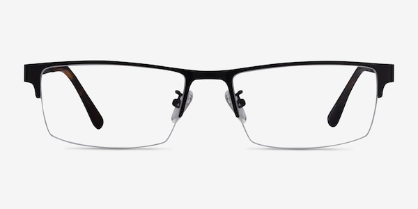 Travis Black Metal Eyeglass Frames
