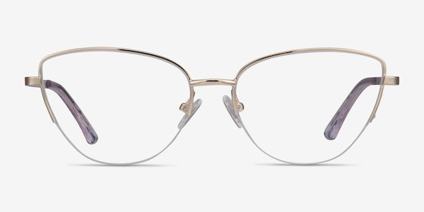 Star Gold Metal Eyeglass Frames