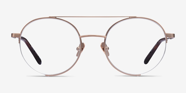 Miller Rose Gold Metal Eyeglass Frames