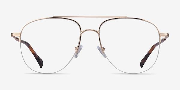 Universe Gold Tortoise Metal Eyeglass Frames