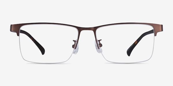 Childeric Brown Tortoise Metal Eyeglass Frames