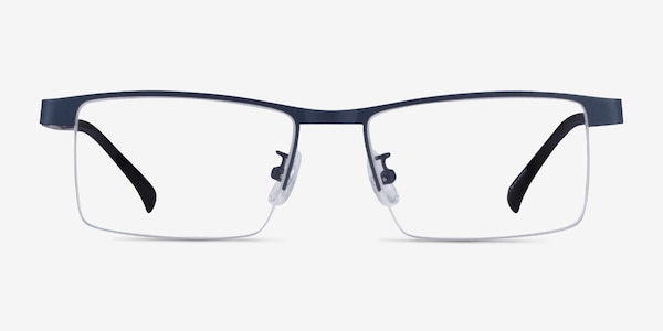 Zac Blue Metal Eyeglass Frames