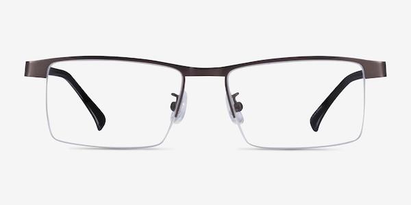 Zac Gunmetal Metal Eyeglass Frames