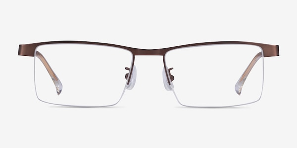Zac Coffee Gold Metal Eyeglass Frames