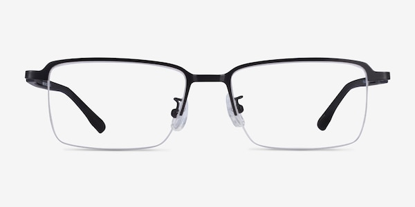 Nine Black Metal Eyeglass Frames
