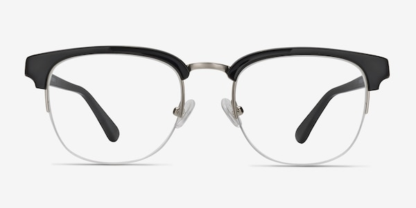Genbu  Black  Acetate-metal Eyeglass Frames