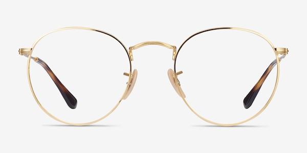 Ray-Ban RB3447V Gold Metal Eyeglass Frames
