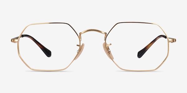 Ray-Ban RB6456 Gold Metal Eyeglass Frames