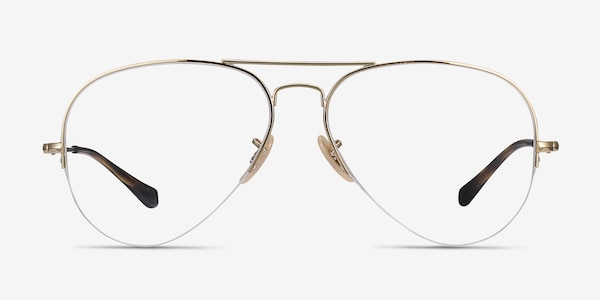 Ray-Ban RB6589 Gold Metal Eyeglass Frames