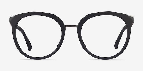 Oakley Top Knot Black & Silver Acetate Eyeglass Frames
