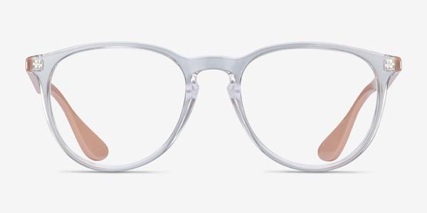 Ray-Ban RB7046 Clear & Pink Beige Plastic Eyeglass Frames