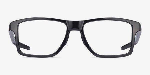 Oakley Chamfer Squared Polished Black Plastic Eyeglass Frames