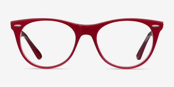 Ray-Ban RB2185V Red Transparent Acetate Eyeglass Frames
