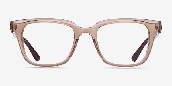 Ray-Ban RB4323V Clear Brown Plastic Eyeglass Frames