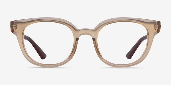 Ray-Ban RB4324V Clear Brown Plastic Eyeglass Frames