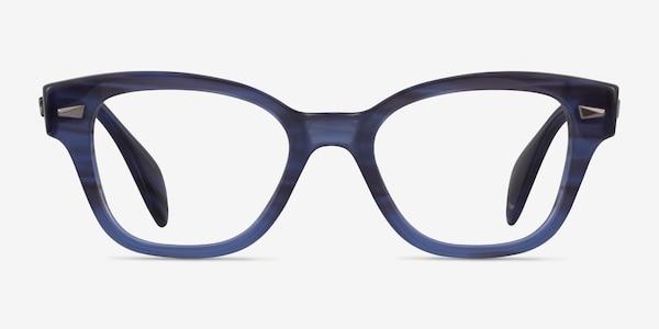 Ray-Ban RB0880 Blue Striped Acetate Eyeglass Frames