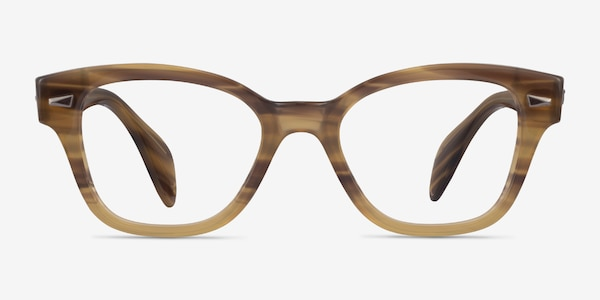 Ray-Ban RB0880 Light Brown Striped Acetate Eyeglass Frames