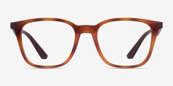 Ray-Ban RB7177 Tortoise Brown Plastic Eyeglass Frames