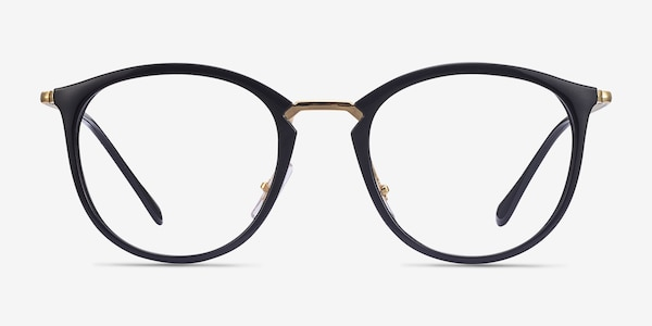Ray-Ban RB7140 Black Gold Plastic-metal Eyeglass Frames