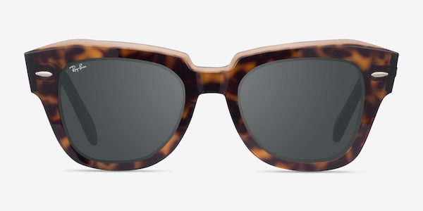Ray-Ban State Street Havana On Transparent Brown Acetate Sunglass Frames