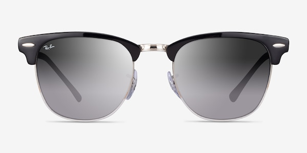 Ray-Ban RB3716 Black On Silver Acetate Sunglass Frames