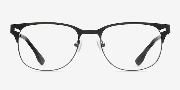 Merrion Black Metal Eyeglass Frames