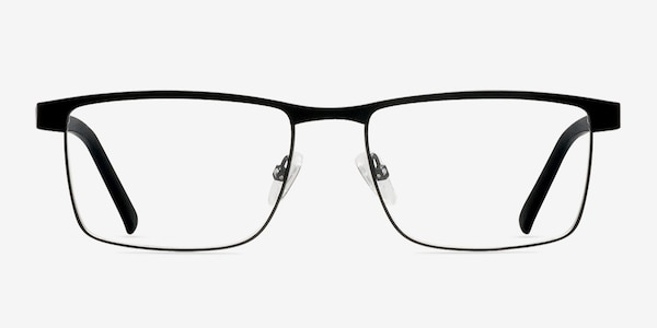 Time Square Black Metal Eyeglass Frames