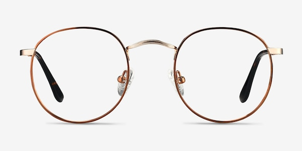 Daydream Brown Golden Metal Eyeglass Frames