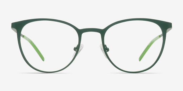 Reunion Matte Green Metal Eyeglass Frames