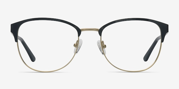 The Moon Black Golden Metal Eyeglass Frames