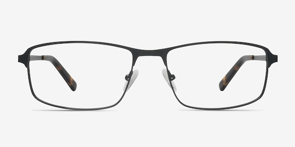 Capacious Black Metal Eyeglass Frames