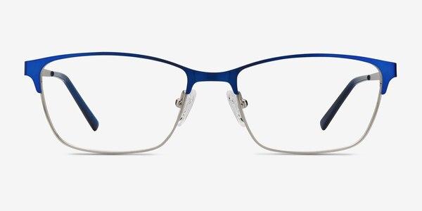 Cascade Blue Metal Eyeglass Frames