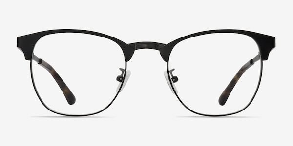 Ferrous Black Metal Eyeglass Frames