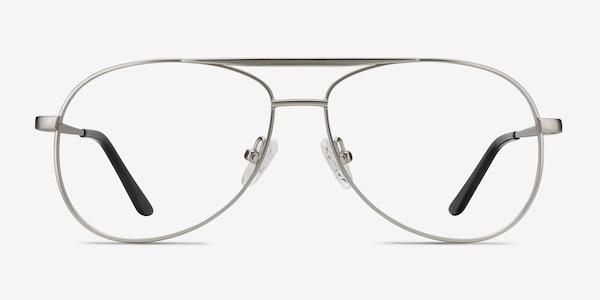 Discover Matte Silver Metal Eyeglass Frames