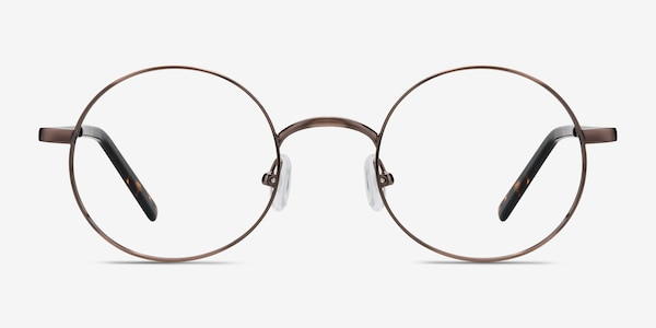 Socrates Brown Tortoise Metal Eyeglass Frames