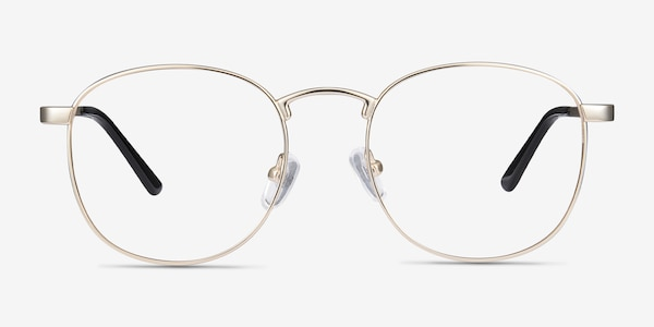 St Michel Golden Metal Eyeglass Frames