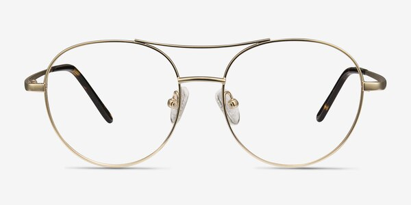 Cassini Golden Metal Eyeglass Frames