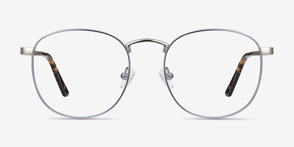 St Michel Frost Blue Metal Eyeglass Frames