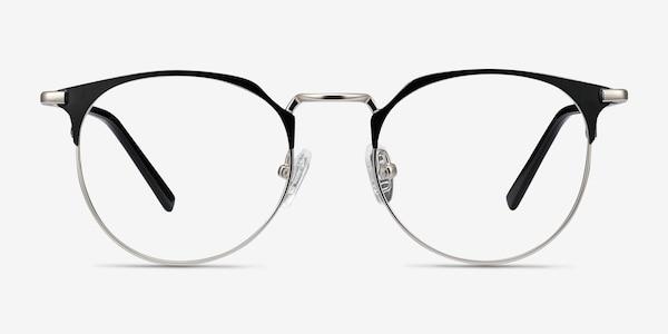 Veronica Black Silver Metal Eyeglass Frames