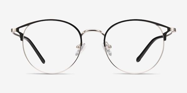 Jive Black & Silver Metal Eyeglass Frames